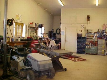 Shop or manufacturing area in the back plus 2 bathrooms (one that is handicapped accessible).